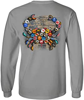 | Natty BOH Bottle Cap Maryland Blue Crab Long Sleeve Shirt in Light Steel