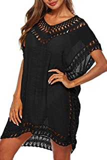 Womens Swimsuit Cover Up Hollow Out Swimwear Beach...
