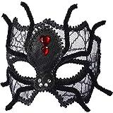 Forum Novelties Women's Mask-Spider with Eyeglass Frame Party Supplies, Standard 73646, Black