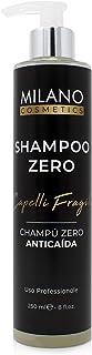 Milano Champú Zero Anticaída 250 ml champu sin sulfatos ni parabenos ni siliconas ni minerales ni sales shampoo para pelo ...