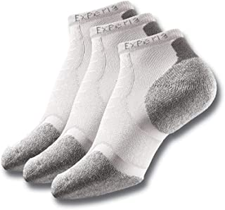 Thorlo womens Experia Micro-mini Crew Sock 3 Pack ,White ,S (Women's: 7-9, Men's: 6-8)