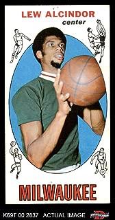 1969 Topps # 25 Lew Alcindor Milwaukee Bucks (Basketball Card) Dean's Cards 1.5 - FAIR Bucks