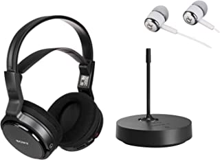 Sony Over-Ear Wireless Radio Frequency Stereo TV Headphone System with 40mm Drivers, Noise Reduction and Long Wireless Ran...
