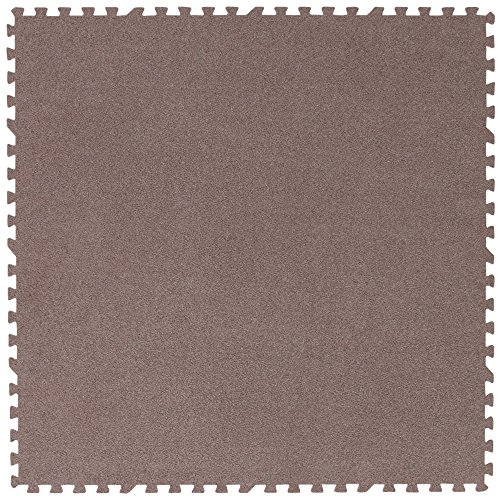 アイリスプラザ ジョイントマット カーペットタイプ 60×60cm 6畳用 32枚組 厚さ0.8cm ブラウン ノンホルムアルデヒド 防音 洗える JM-H6008NP