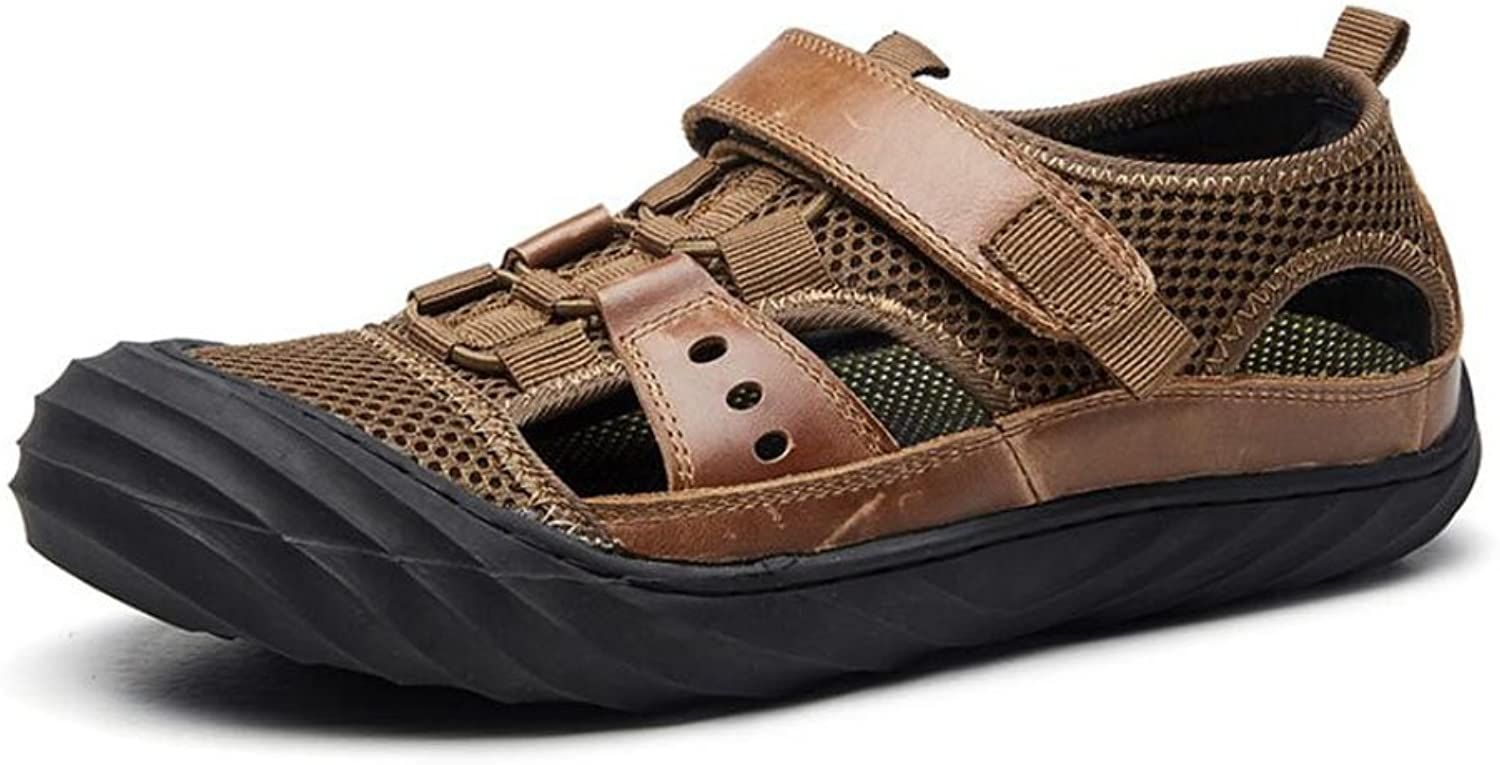 Men Leisure Outdoor Sandals Summer Comfort Beach Walking shoes Men's Breathable Casual shoes (color   Brown, Size   42)