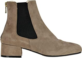 YOSH COLLECTION Women's MCGLCAS000006121I Beige Leather Ankle Boots