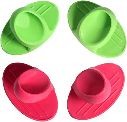 2021 Larcele new arrival Silicone Pot Holder, Set of 4 high quality Pieces Oven Mitts Gloves, Heat Resistant, Dishwasher Safe and Environmentally Friendly, Random Colour FTPJ-01 sale