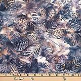 Hoffman 0668238 Bali Batik Textured Big Leaf Smoke Fabric