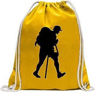 Hiking Trekking Figure Drawstring Backpack Sport Beach Gym Bag
