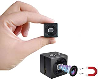 Mini Spy Camera cop cam HD 1080P Portable Small Nanny Cam Magnetic Security Camera with Night Vision/Motion Detection Indo...