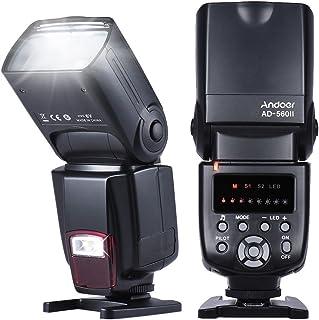 Andoer Flashes con zapata Flash Speedlite para Cámara Canon Nikon Olympus Pentax AD-560ⅡUniversal