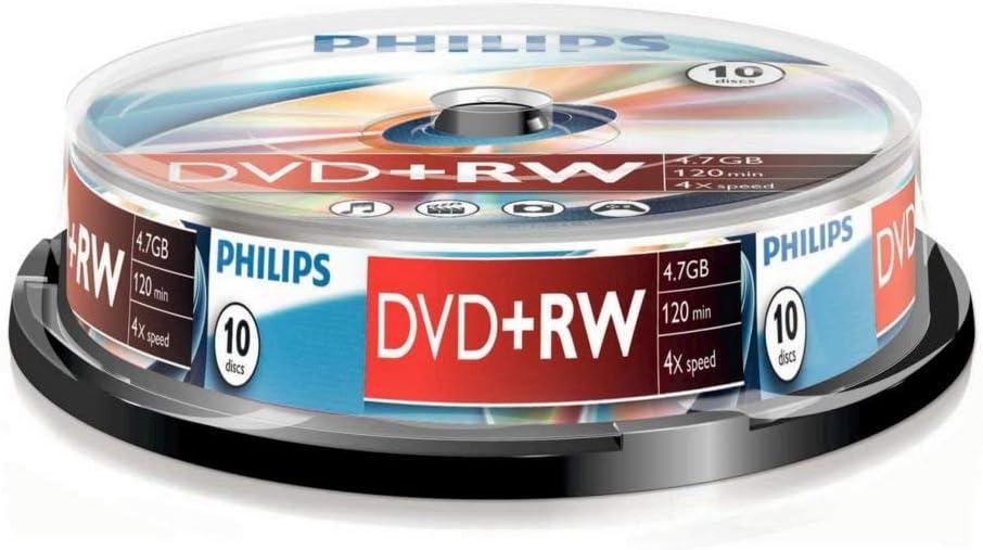 Philips Dvd Rw 4 7gb 4x Data 120min 10er Cake Computer Zubehör