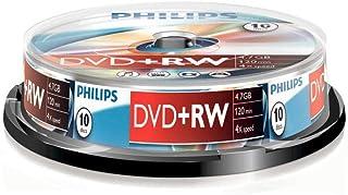 PHILIPS DVD + RW 4.7GB 4X Data/120min 10er Spindel