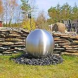 CLGarden Große Kugel aus Edelstahl 48cm Durchmesser für Gartenbrunnen Kugel matt gebürstet Wasserspiel Springbrunnen Kugelbrunnen