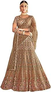 Wedding Designer Bollywood style Heavy Embroidered Silk Net Stylish Lehenga for Bridal Women Indian Cocktail dress 7623
