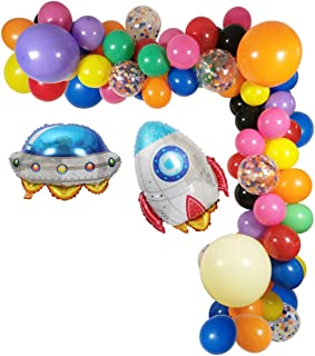 """111 Pack Amongo Us Party Balloons Decorations Garland, Birthday Party Supplies 18"""" 12"""" Thick Latex Balloons Outerspace The..."""
