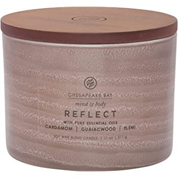 Chesapeake Bay Candle Mind & Body Serenity Scented Candle, Reflect with Pure Essential Oils (Cardamom, Guaiacwood, Elemi), Coffee Table