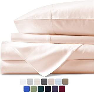 Mayfair Linen 100% Egyptian Cotton Sheets, Ivory King Sheets Set, 600 Thread Count Long Staple Cotton, Sateen Weave for Soft and Silky Feel, Fits Mattress Upto 18'' DEEP Pocket
