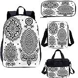 Henna - Juego de bolsas escolares para niños, 43 cm, diseño ornamentado, para trabajo, escuela, viajes, picnic