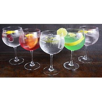 Hogar y Mas - LUMINARC - Copa Combinados 720 ML, Vidrio Gin Tonic, 6 Uds. Vajilla/Menaje, Estilizadas y Elegantes, Basicos Set de 6.: Amazon.es: Hogar
