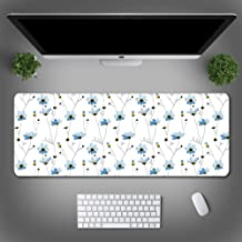 Alfombrilla de ratón de Planta Verde de Verano Alfombrilla de ratón Grande Hueso de Flores niño 800 * 300 * 4
