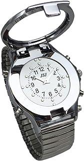 VISIONU Reloj de Pulso con Marcas en Braille para Táctil y Voz En Español