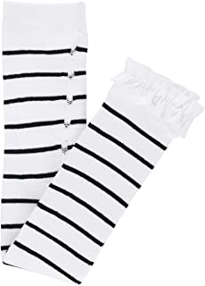 black and white striped leggings size 6