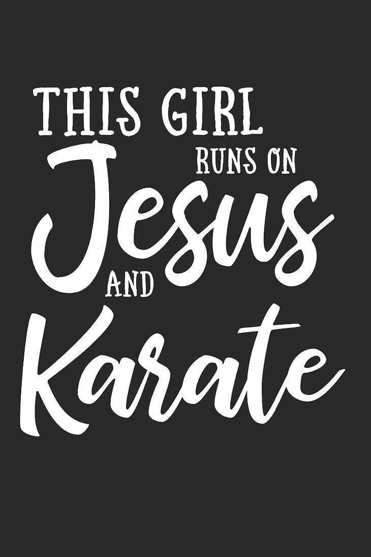 藤色引き金サイトThis Girl Runs on Jesus And Karate: Journal, Notebook