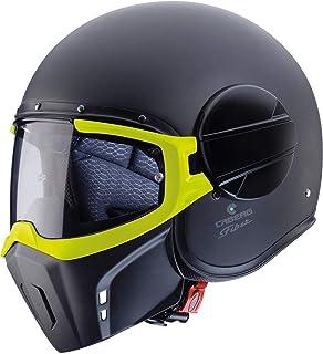 Caberg Ghost Helm XL 60 Schwarz Matt/Gelb