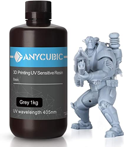 ANYCUBIC 3D Printer Resin, 405nm SLA UV-Curing Resin with High Precision and Quick Curing & Excellent Fluidity for LC...