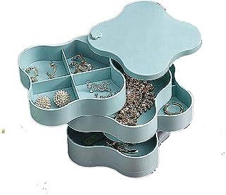 4 طبقات صندوق تخزين مجوهرات صغير رقيق الأقراط الأقراط الأقراط مربع المجوهرات قلادة إكسسوارات شعر الأطفال (أخضر)