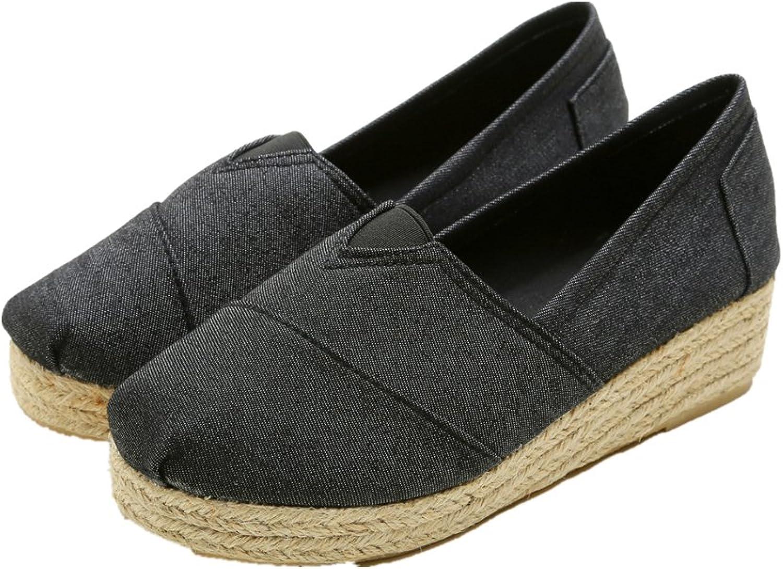 Edv0d2v266 Women Espadrille Flats shoes Woman Canvas Loafers Hemp Insole Fisherman shoes Plus Size