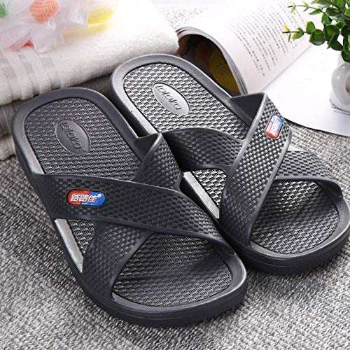 TDYSDYN Interior al Aire Libre Verano Zapatillas,Zapatillas de PVC de Suela Blanda, Sandalias de Ducha de baño-Gris Oscuro_43