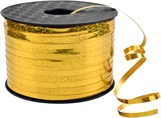 Fodlon Cinta Oro Reflectante Cinta de Raso Cintas para Globo Cintas Decorativas Cintas Arbol de Navidad para CelebracióN Navideña Florista Decoración de Regalo Arco, 5mm*90m