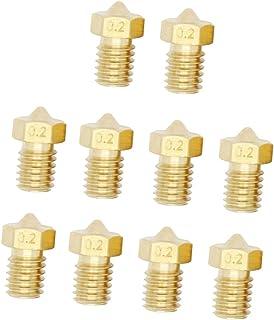 MagiDeal 10 stücke 0,4mm Düse 1,75mm Für V6 3D Drucker Extruder M6