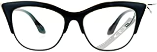 Womens High Point Squared Half Rim Look Cat Eye Glasses