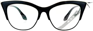 SA106 Womens High Point Squared Half Rim Look Cat Eye Glasses