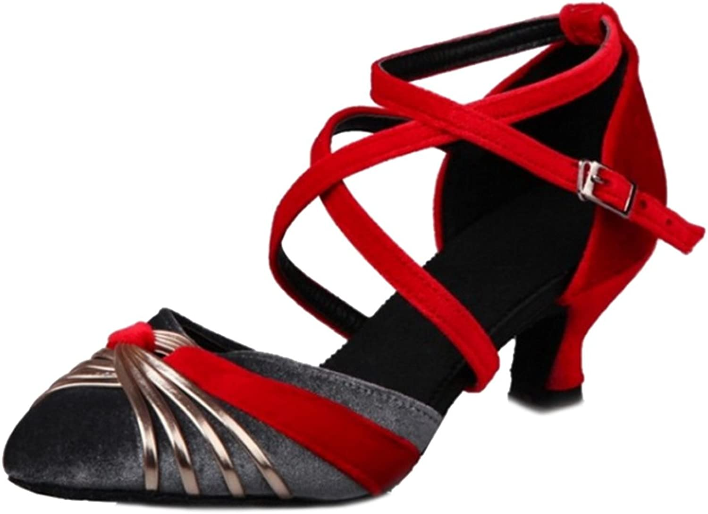 CuteFlats Women Ballet Sandals with Kitten Heel and Pointed Toe