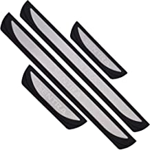 MTAWD Stainless Car Door Sill Scuff Plate Protectors Trim for Nissan Sentra 2012-2018 (B Silver with Plastic)