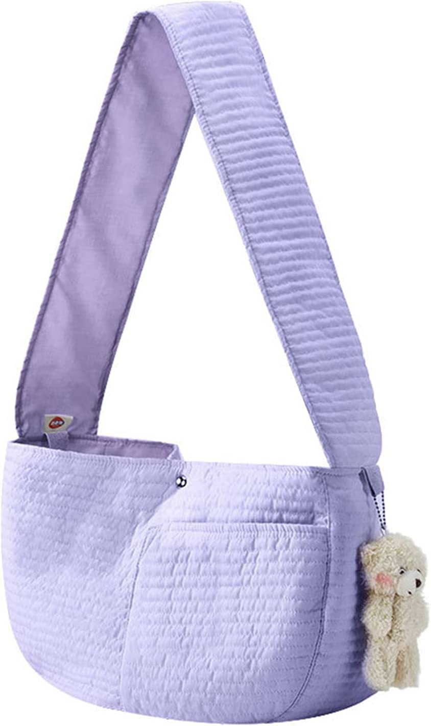 Dog and Cat trend rank Sling Surprise price Strap Suitab Backpack Canvas Pet One-Shoulder