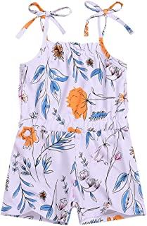 e1012e062616 Oldeagle Baby Clothes - Summer Toddler Kids Baby Girl Strap Floral Print  Romper One-Piece