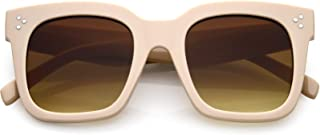 Retro Oversized Square Sunglasses for Women with Flat...