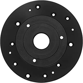 Aluminum Universal Router Plate with Replacement Screws and Plastic Insert Rings