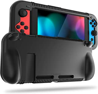 Fintie Silicone Case for Nintendo Switch - Soft [Anti-Slip] [Shock Proof] Protective Cover with Ergonomic Grip Design, Dro...