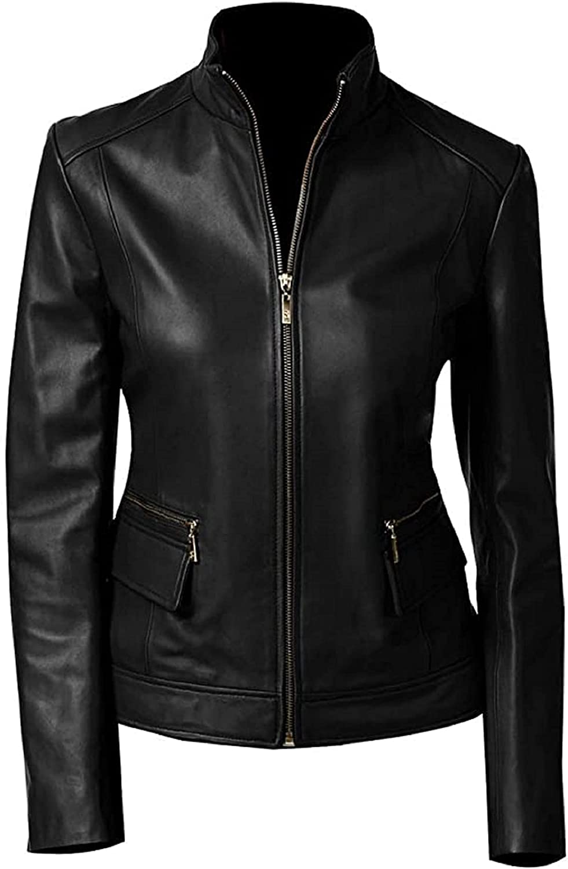 SNS TEXAS PU Leather Jacket Women Lightweight Bomber Jacket - Synthetic Leather Jacket in very Cheap Price