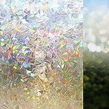Película electrostática de película de Ventana teñida de Arco Iris 3D Etiqueta de Vidrio de decoración del hogar de privacidad película de Vidrio de Ventana y Puerta de PVC E 45x200cm