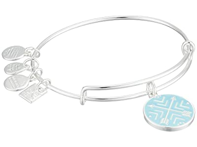 Alex and Ani Arrows of Friendship Charm Bangle (Shiny Silver) Bracelet