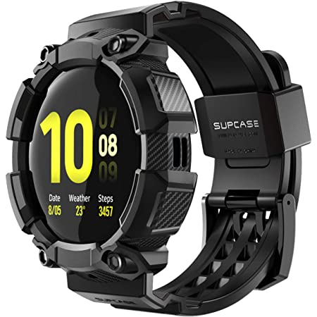 SUPCASE [Unicorn Beetle Pro] Series Case for Galaxy Watch Active 2/Galaxy Watch Active [40mm], Rugged Protective Case with Strap Bands for Galaxy Watch Active/Active 2 [40mm] 2019 Release (Black)