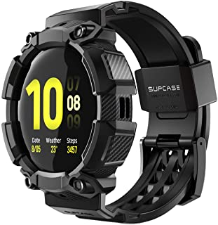 SUPCASE [Unicorn Beetle Pro] Series Case for Galaxy Watch Active 2 [44mm] 2019 Release, Rugged Protective Case with Strap ...