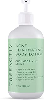 TreeActiv Acne Eliminating Body Lotion 8 fl oz Clears Body, Back, Butt and Shoulder Acne Anti-Acne Moisturizer Prevents Fu...